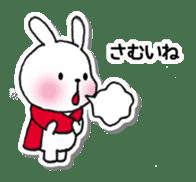 Red Muffler Rabbit sticker #8991469