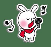Red Muffler Rabbit sticker #8991470
