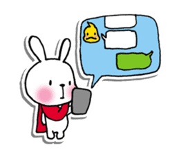 Red Muffler Rabbit sticker #8991472