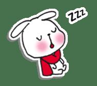 Red Muffler Rabbit sticker #8991473