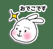 Red Muffler Rabbit sticker #8991478