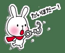 Red Muffler Rabbit sticker #8991479
