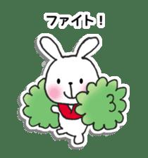 Red Muffler Rabbit sticker #8991480