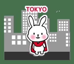 Red Muffler Rabbit sticker #8991484