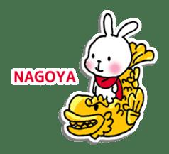 Red Muffler Rabbit sticker #8991485