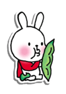 Red Muffler Rabbit sticker #8991488