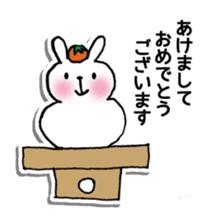 Red Muffler Rabbit sticker #8991491