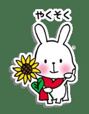 Red Muffler Rabbit sticker #8991492