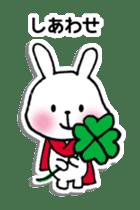 Red Muffler Rabbit sticker #8991495