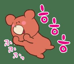 Hangul KUMA-SAN sticker #9001938