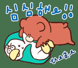 Hangul KUMA-SAN sticker #9001953