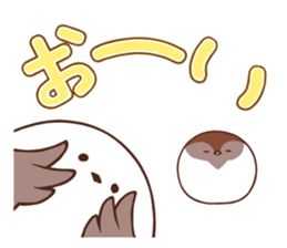 Suzume-san and Enaga-chan 2 sticker #9005805