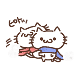 A couple of winter of cat sticker #9013843