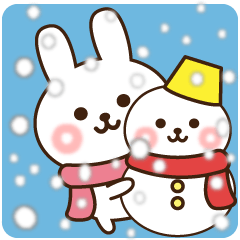 kind message rabbit (winter)