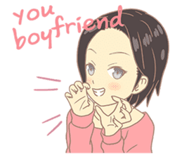 Moki Net Idol girlfriend sticker #9022396