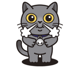 MIA the British Shorthair Cat sticker #9022478