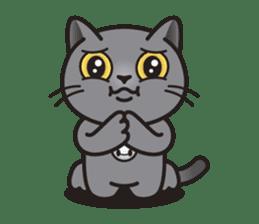 MIA the British Shorthair Cat sticker #9022485