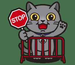 MIA the British Shorthair Cat sticker #9022486