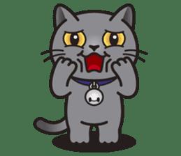MIA the British Shorthair Cat sticker #9022490