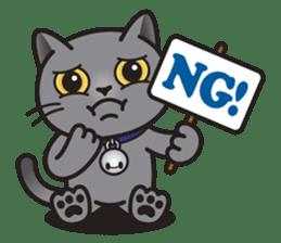 MIA the British Shorthair Cat sticker #9022497
