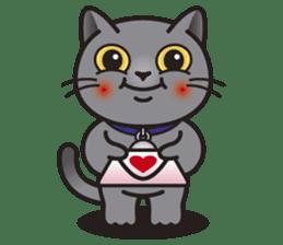 MIA the British Shorthair Cat sticker #9022498