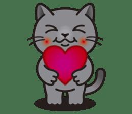 MIA the British Shorthair Cat sticker #9022499