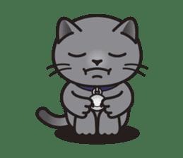 MIA the British Shorthair Cat sticker #9022508