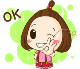TuaLek : a tiny cute girl [Eng] sticker #9024178