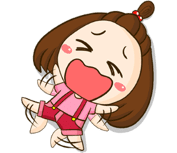 TuaLek : a tiny cute girl [Eng] sticker #9024189