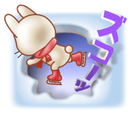 Rabbit is jumping out[winter] sticker #9029362