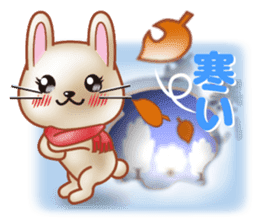 Rabbit is jumping out[winter] sticker #9029369