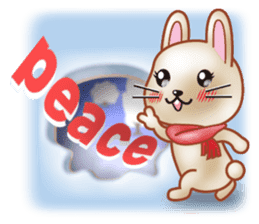 Rabbit is jumping out[winter] sticker #9029374