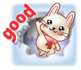 Rabbit is jumping out[winter] sticker #9029378