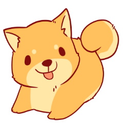 tibi shibainu Sticker( no language ver)