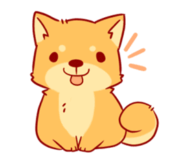 tibi shibainu Sticker( no language ver) sticker #9032056