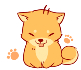 tibi shibainu Sticker( no language ver) sticker #9032057