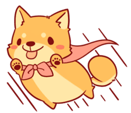 tibi shibainu Sticker( no language ver) sticker #9032063