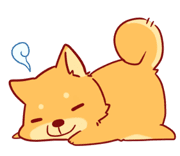 tibi shibainu Sticker( no language ver) sticker #9032065