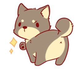 tibi shibainu Sticker( no language ver) sticker #9032066