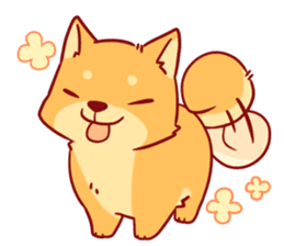 tibi shibainu Sticker( no language ver) sticker #9032075