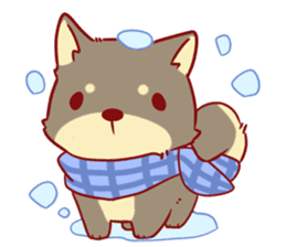 tibi shibainu Sticker( no language ver) sticker #9032081
