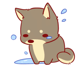 tibi shibainu Sticker( no language ver) sticker #9032084