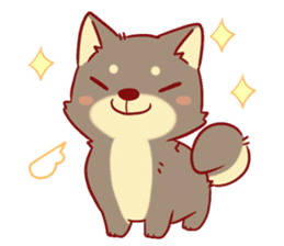 tibi shibainu Sticker( no language ver) sticker #9032085