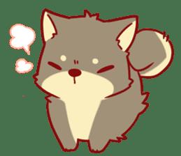 tibi shibainu Sticker( no language ver) sticker #9032091