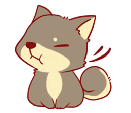 tibi shibainu Sticker( no language ver) sticker #9032092