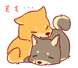 tibi shibainu Sticker( no language ver) sticker #9032094