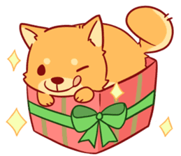 tibi shibainu Sticker( no language ver) sticker #9032095