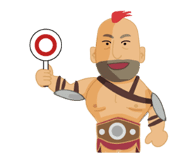 One Day A Certain Gladiator-eng sticker #9033390