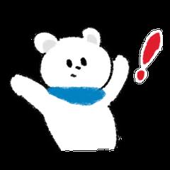 Bear with a scarf