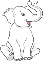 Lucky happy elephants sticker #9043656